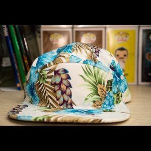 Other - Floral strap back hat